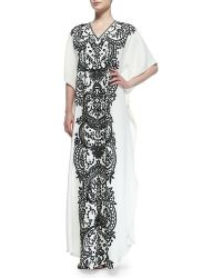 Naeem Khan - Short-sleeve Embroidered Caftan - Lyst
