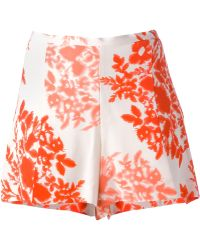 By Malene Birger Floral Shorts - Lyst