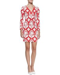 Diane Von Furstenberg New Reina Two Printed Silk Dress - Lyst