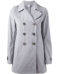 Aspesi Double Breasted Trench Coat - Lyst