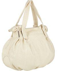 Zagliani Python Soho Large Shopping Bag - Lyst