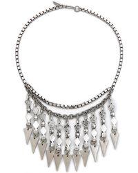 Vanessa Mooney The Harper Necklace - Antique Silver - Lyst