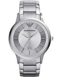 Emporio Armani Mens Stainless Steel Round Watch - Lyst