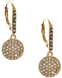 Judith Jack - Crystal, Marcasite And Goldplated Sterling Silver Disc Drop Earrings - Lyst
