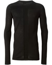 Rick Owens T Panel Sweater - Lyst