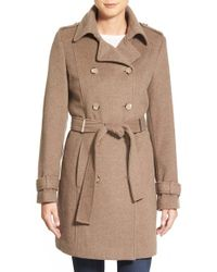 CALVIN KLEIN 205W39NYC - Wool Blend Trench Coat - Lyst