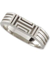 Tory Burch Rhodium-Plated Fitbit-Case Bracelet silver - Lyst