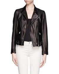 3.1 Phillip Lim Sculpted Leather Biker Jacket - Lyst