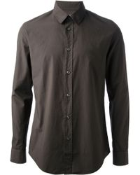 Maison Martin Margiela Dark Grey Over Dyed Shirt - Lyst