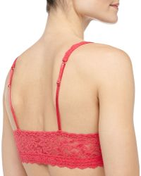 Hanky Panky Retro Signature Lace Bralette Passion Fruit - Lyst