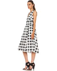Derek Lam Plaid Faille Polyamideblend Full Skirt Dress - Lyst