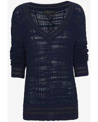 Rag & Bone Shana V Neck Crochet Sweater - Lyst