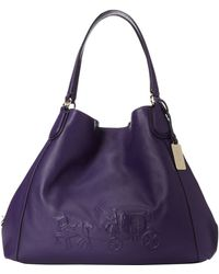 Coach Embossed Horse and Carriage Large Edie - Lyst