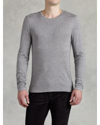 John Varvatos Long Sleeve Crew Neck - Lyst