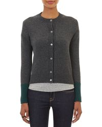 Barneys New York Contrast Cuff Cardigan - Lyst
