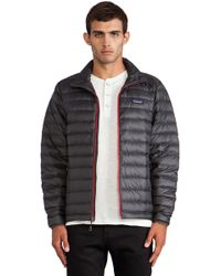 Patagonia Gray Down Sweater - Lyst