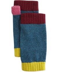 Brora | Cashmere Colorblock Wrist Warmers | Lyst
