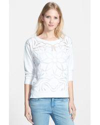 Sanctuary Women'S 'Artist' Floral Burnout Sweatshirt - Lyst