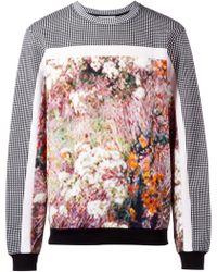 Carven Floral Haze Print Panelled Sweatshirt multicolor - Lyst