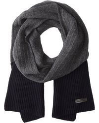Valentino Black Wool Scarf - Lyst