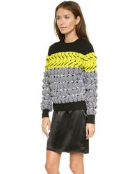 Alexander Wang Bubble Wrap Pullover  Citrine - Lyst