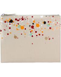Maison Martin Margiela Paint Splatter Clutch - Lyst