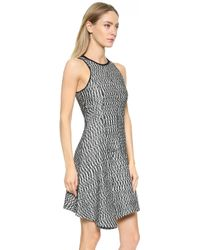 Derek Lam 10 Crosby Sleeveless Asymetrical Dress - Black/White - Lyst