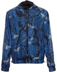 Givenchy Paisley-Print Hooded Jacket - Lyst