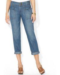 Ralph Lauren Lauren Jeans Co Cropped Utility Jeans - Lyst