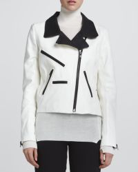 A.L.C. Theo Twotone Leather Jacket - Lyst
