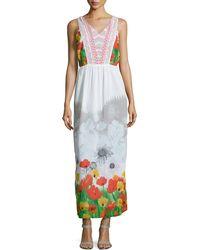 Alberto Makali Floral Open-Back V-Neck Maxi Dress - Lyst