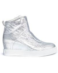 Ash | 'clone' Metallic Leather Wedge Sneakers | Lyst