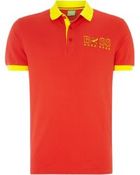Hugo Boss Country Flag Polo Shirt - Lyst