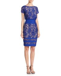 Tadashi Shoji | Lace Blouson Dress | Lyst
