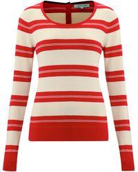 Dickins & Jones Ladies Striped Crew Neck Knit Jumper - Lyst