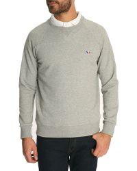 Maison Kitsuné Mottled Grey Renard Sweater - Lyst