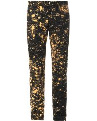 Raf Simons/sterling Ruby Bleached Skinny Jeans - Lyst