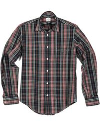 Hartford Mens Plaid Button Down Shirt - Lyst