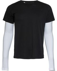 Ovadia And Sons Double Sleeve Raglan T-Shirt black - Lyst