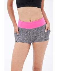 Forever 21 Heatheredpocket Yoga Shorts - Lyst