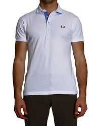 Fred Perry Tshirt Polo Piquet Short Sleeve Slimstretch Neck Cami - Lyst