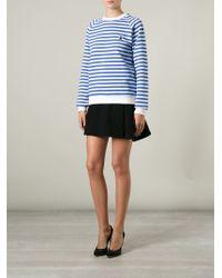 Peter Jensen - Striped Cotton Sweatshirt - Lyst