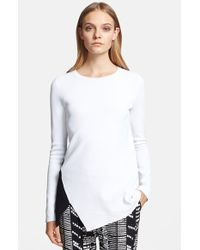 Proenza Schouler Asymmetrical Colorblock Sweater - Lyst