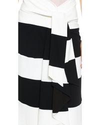 Jay Ahr - Satin Skirt - Black/White - Lyst