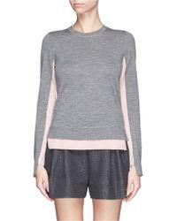Rag & Bone 'Nadine' Contrast Hem Merino Wool Sweater - Lyst