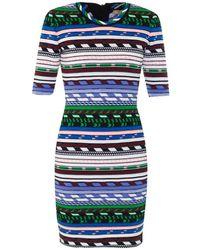 Christopher Kane Contrast-Stripe Knit Dress - Lyst
