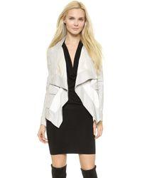 Donna Karan New York Pocket Drape Jacket - Platinum - Lyst