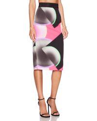 Milly Glow Print Midi Skirt - Lyst
