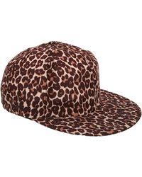 American Apparel - Leopard Rayon Cap - Lyst