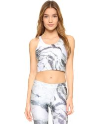 Terez - Reversible Marble Crop Top With Shelf Bra - Lyst